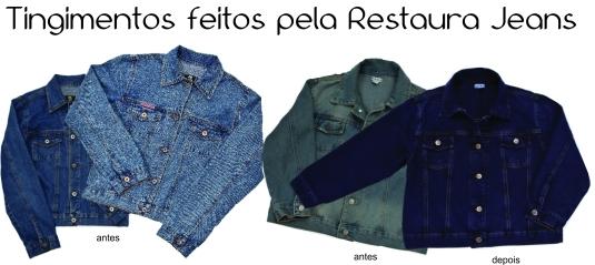 Jaqueta jeans tingimento