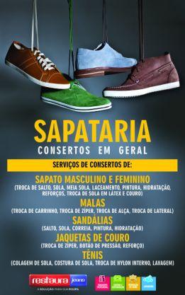 Banner 50x80 sapataria conserto sapato